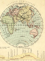 19th century eastern hemisphere map