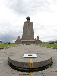 equator monument at 0 degrees latitude - ecuador