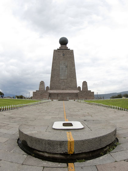 Equator Monument At 0 Degrees Laude Ecuador