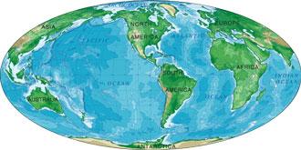 world map mollweide projection