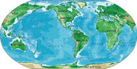 world map robinson projection