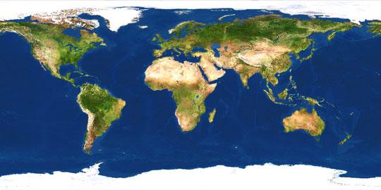 world terrain map