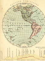 19th century western hemisphere map