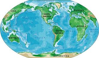 world map winkel tripel projection